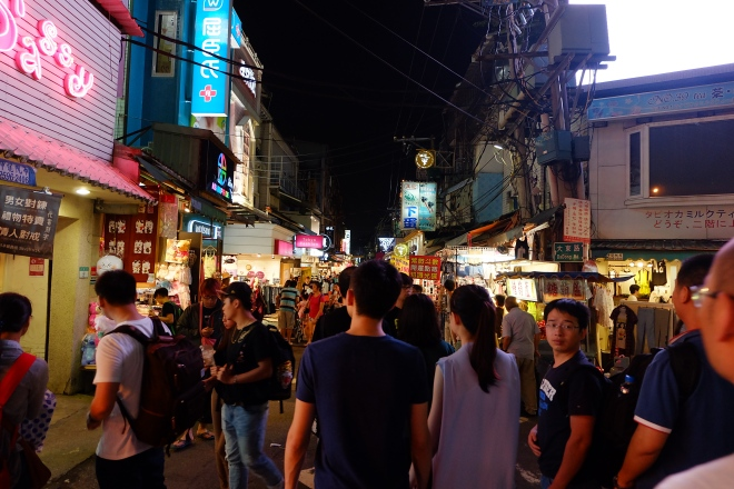 The first night market that I visited - Shida Market!