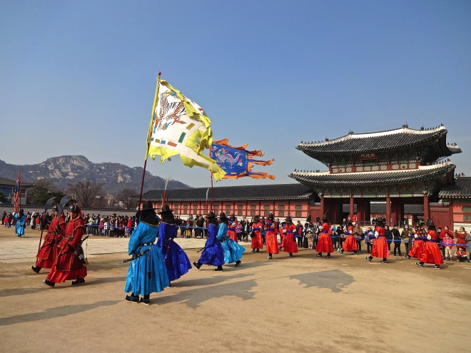 Glimpses of Seoul: Changing of the Guards ceremony at Gyeongbok Palace