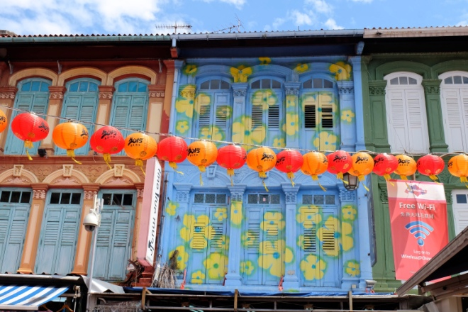 Spotted this cute flowery house in Chinatown