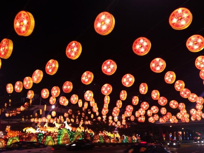 Chinese New Year night lights @ Chinatown Singapore!