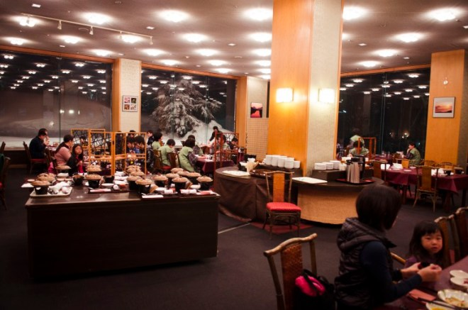 The dining room where we were served an 8-course Kaiseki (会席), traditional Japanese set meal, for dinner.