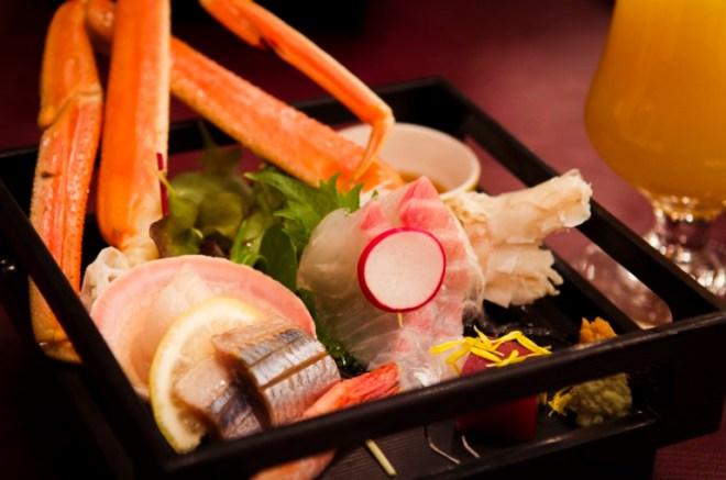 Otsukuri (お造り) a selection of Sashimi.