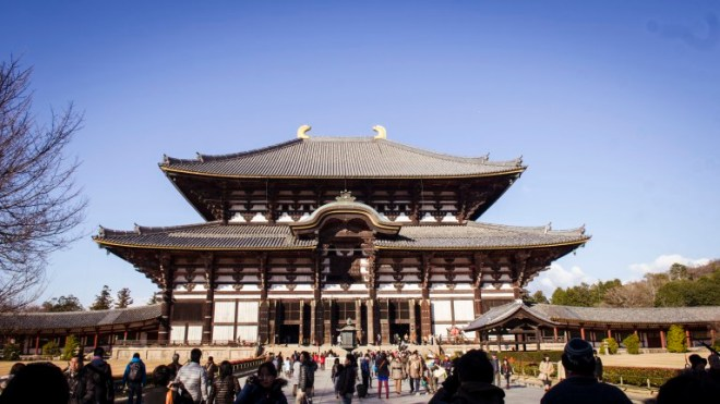 "Todaiji (東大寺, ""Great Eastern Temple"") is one of Japan's most famous and historically significant temples and a landmark of Nara. The temple was constructed in 752 as the head temple of all provincial Buddhist temples of Japan."