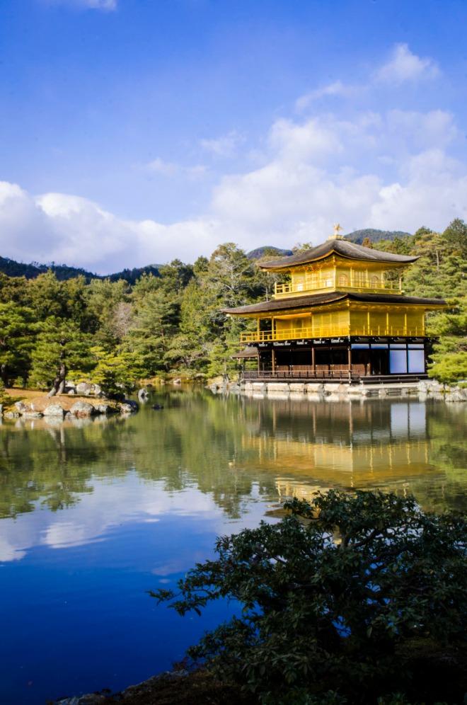 Kinkakuji (金閣寺) which literally translates to 'Golden Pavilion'