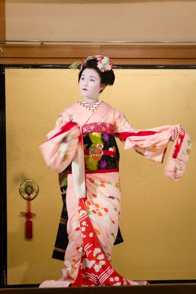 Kyo-Mai Dance, performed by a Maiko before she becomes a full-pledged Geisha