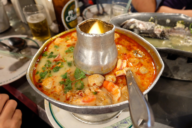 Tom Yam Soup! It's fresh and spicy - another awesome dish from T&K