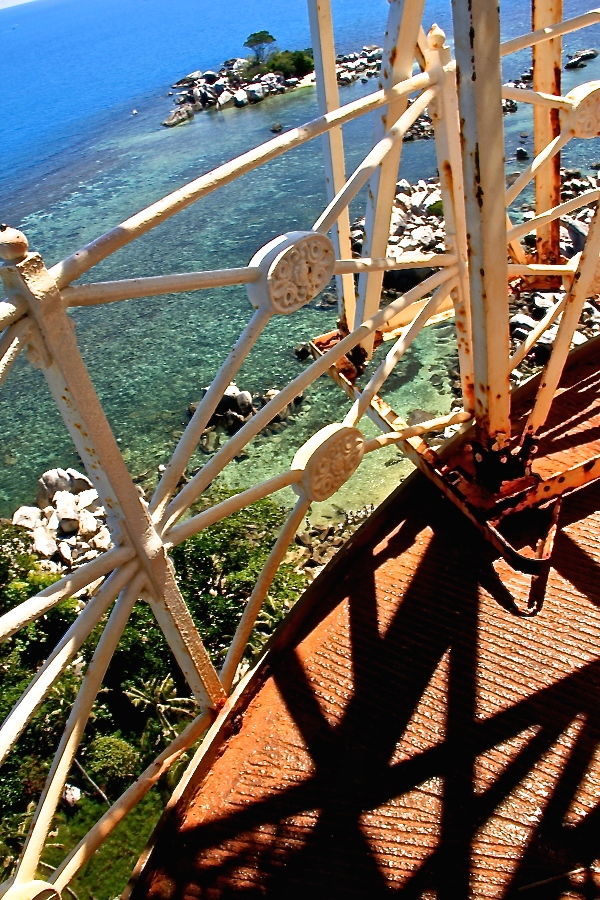 At the top of the lighthouse at Pulau Lengkuas (Photo source: GIV/MB)
