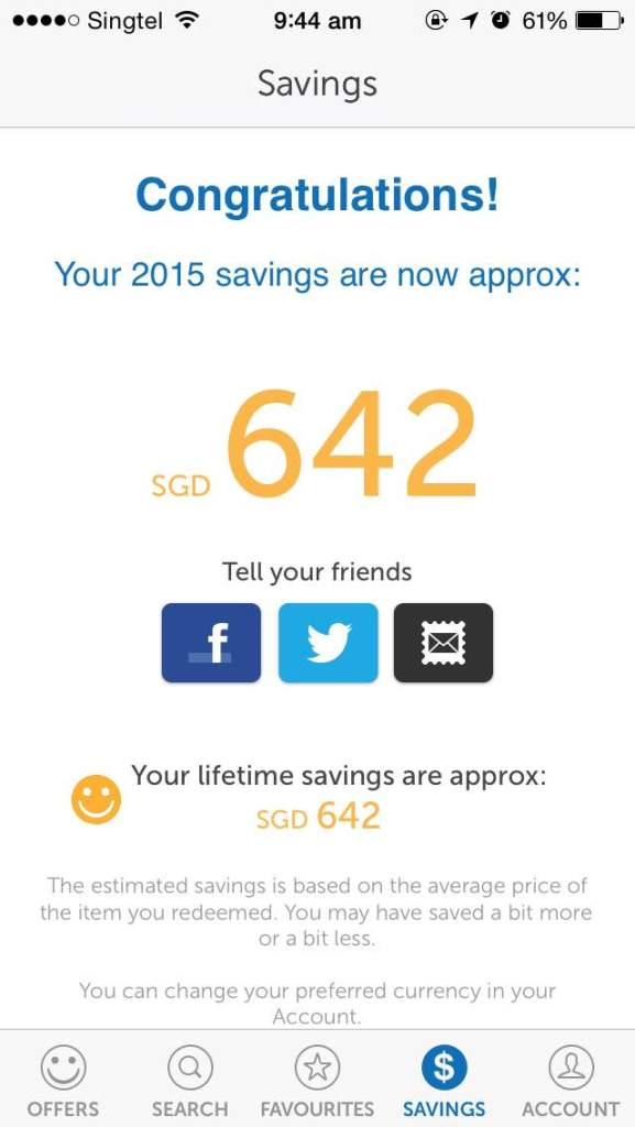 My approximated savings! It's actually wayyyy higher than $642 ;D